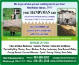 YOUR HANDYMAN CAN YOUR HANDYMAN CAN